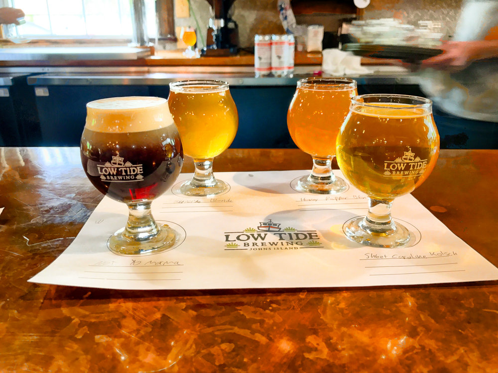 Quick beer flight of local beer before coming back home
