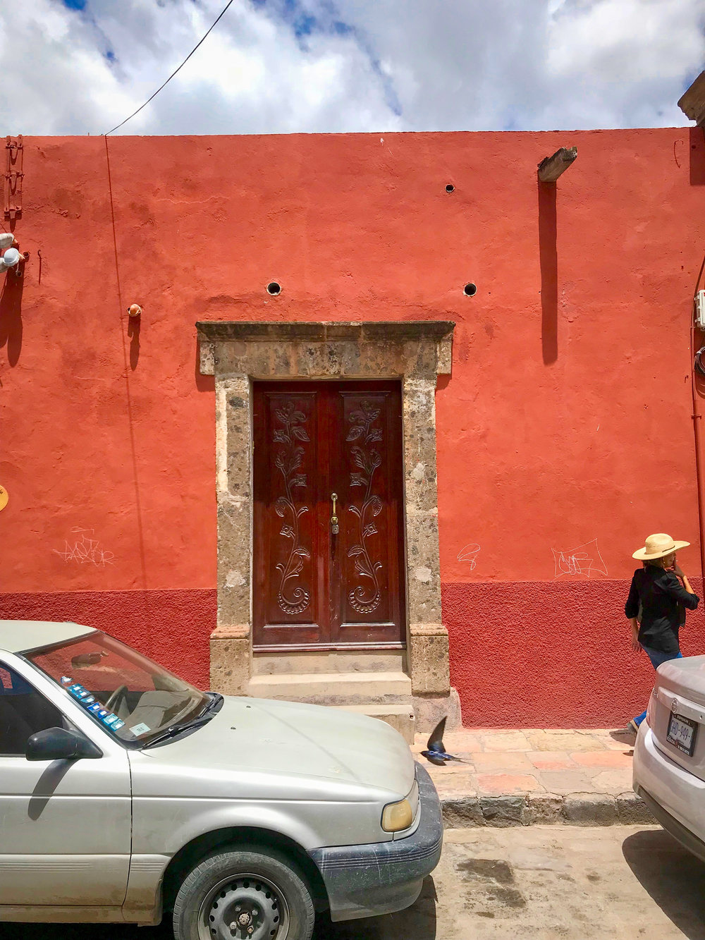 On of the intricately carved and designed doors in San Miguel de Allende, Guanajuato, Mexico.