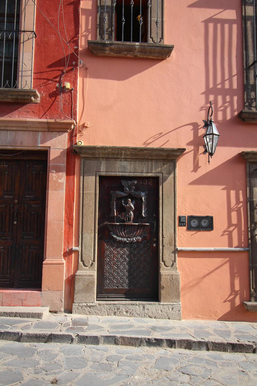 Door in San Miguel de Allende, Guanajuato, Mexico.
