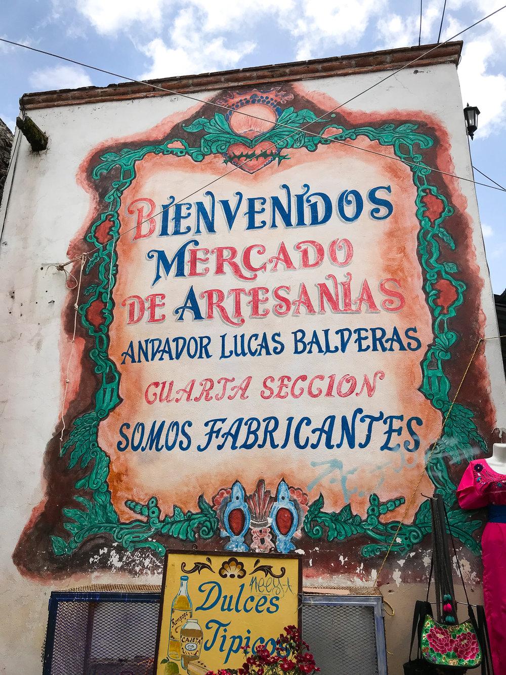 Artisan market in Door in San Miguel de Allende, Guanajuato, Mexico.
