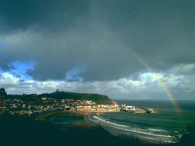 #rainbow #sun #landscapes #sea #scarborough #harmony #view