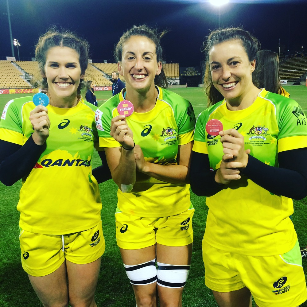 Olympic Gold Medalists, Australia Women's 7s (Charlotte Caslick, Alicia Quirk, Emilee Cherry)