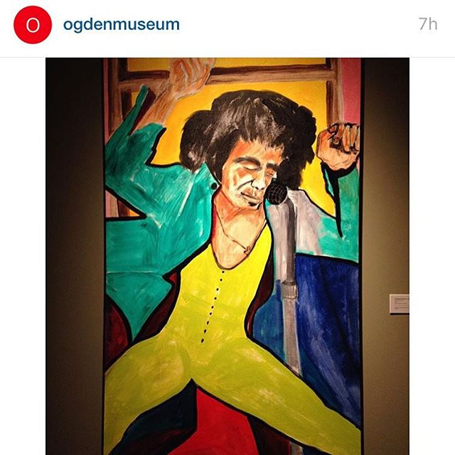 "Now on exhibit @ogdenmuseum ""James Brown"", 2010 #jamesbrown #portrait #nola #FJB"
