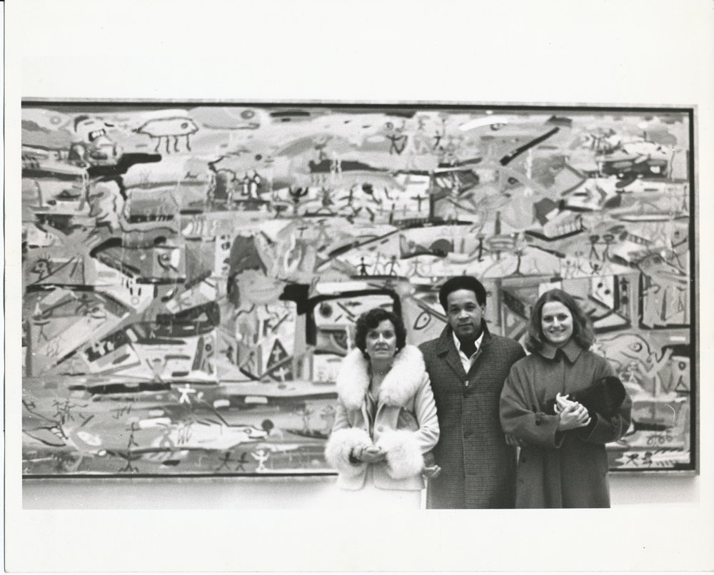 From the FJBT Archives - Carolyn Bowman, Frederick J. Brown and Megan Bowman-Brown posed with Genesis after its donation to the Metropolitan Museum of Art, New York, 1978