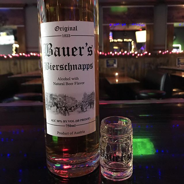 Come by @west.on.north and try a shot of Bauer's Bierschnapps for $6 and get a complimentary mini stein shot glass!!! While supplies last.