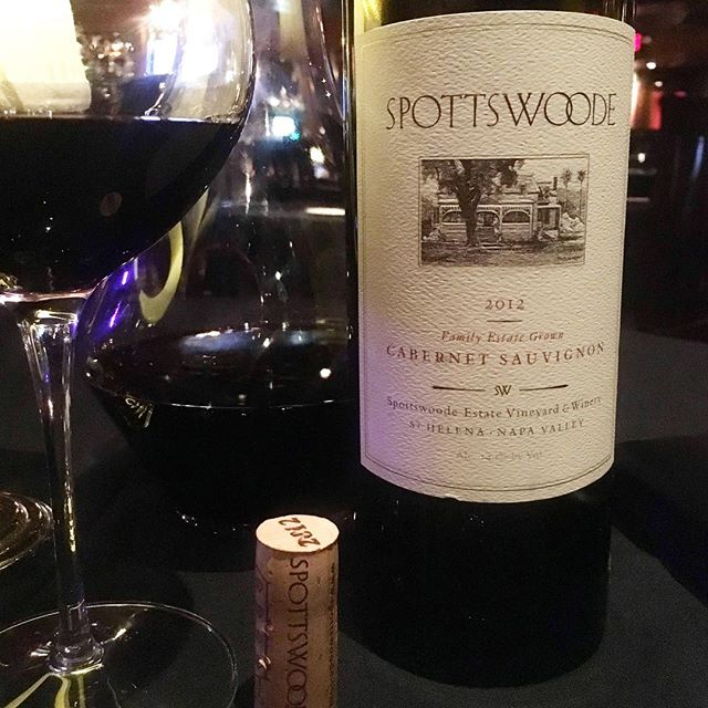 @spottswoodewinery #2012redwine #cabernetsauvignon #napavalley  This is a fantastic example of California Cabernet. No thickness or over extraction whatsoever, everything in this wine works perfectly together. Awesomely balanced with all its components working effortlessly in conjunction. Medium bodied with sleek blue fruits combined to a perfectly balanced framework of medium integrated acids, tannin and well judged medium lithe new oak. The wine is totally seamless in the mouth with the sweet elixir floating over the palate. This not to say the wine is not terroir reflective or individual-it is with a loamy - gravelly nuance. The wine is so perfectly balanced it's similar to a thoroughbred racehorse. The finish is succulent and endless. A super-high quality wine and and a perennial of mine favourite from Napa. If I had one wine to drink constantly from Napa this would probably be it.