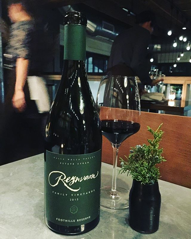@reynvaanwine #familyvineyards #foothillsreserve #syrah2015 #wallawallawine #estatesyrah  Dark bloody crimson colour with broad pink youthful watery rim. Expansive spicy bouquet packed with pungent aromas of spicy red and black fruits- great taught resistance between ripe but not super ripe red and fruits-black plums, huckleberries, rose hips, cherries, new oak, old man's sweat.. a pronounced hung meat nuance...savoury with bold soaring white pepper aromas. Medium bodied with silky ripe black plum flavour...cherries, spices and vanilla flavours mingling with sweet chocolate orange and peppery nuances. Good acidity holds up the rich chocolate coated fruits and the big boned tannins have just started to integrate. A touch raw and tannic at the moment, this Turkish delight of a wine is long in the mouth,immensely fruity and will only become more complex over the next few years In bottle.  #redwinelover #winelover #wallawalla #washingtonwine #redeveryday #cheers 🍷