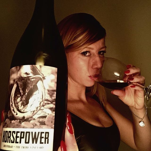 @cayusevineyards #horsepowerwine #thetribevineyard #2015syrah #washingtonwine  Wow! Supreme cuvée from Cayuse! Produced from the small 'The Tribe' vineyard and worked by Baron with single horse and plough. The ground is comprised of huge galets, similar to Chateauneuf du Papes and makes mechanisation just too hard. This makes for backbreaking work. It's a stunning cuvée however, and maybe my favourite so far tastes. This really brings his style simmered down to the essences. Not opaque by t pretty darn dark and youthful.  Tons of sauvage aromas, animalistic notes; bloody meat, blood sausage, sweat, xmas pudding, hung meat, decay, tons of minerals, blueberries, very pure, no oak it seems. The one overriding nuance has to be Unami which is very noticeable on both the nose and palate-tons of it. Super rich, expansive, dense and decadent with long tasty flavours of smoke, wet soil, cinders, spice and earthy black fruits bound to very minerally flavours. It's very tertiary with small steely tannins and uplifting acidity that holds and streamlines the flavours. Super smooth, super-long and complex. Enormously long, toothsome finish. This wine will age well as the tannins at the moment are ever so slightly bitter- this will resolve itself with a few extra years in bottle and will last 15. 13.6%abv. Superb. #wallawallawine #washingtonredwine #wine #wineporn #winestagram #lovemywife #wineandmore #christophebaron #redwine #washington #beautyandwine #discoverwallawalla #lovewine #cayuse #syrahwine #syrah #superb #winetasting #winelover #winetasting #wineoclock #wineeveryday #winenight #winewife #drinkwallawalla #cheers 🍷