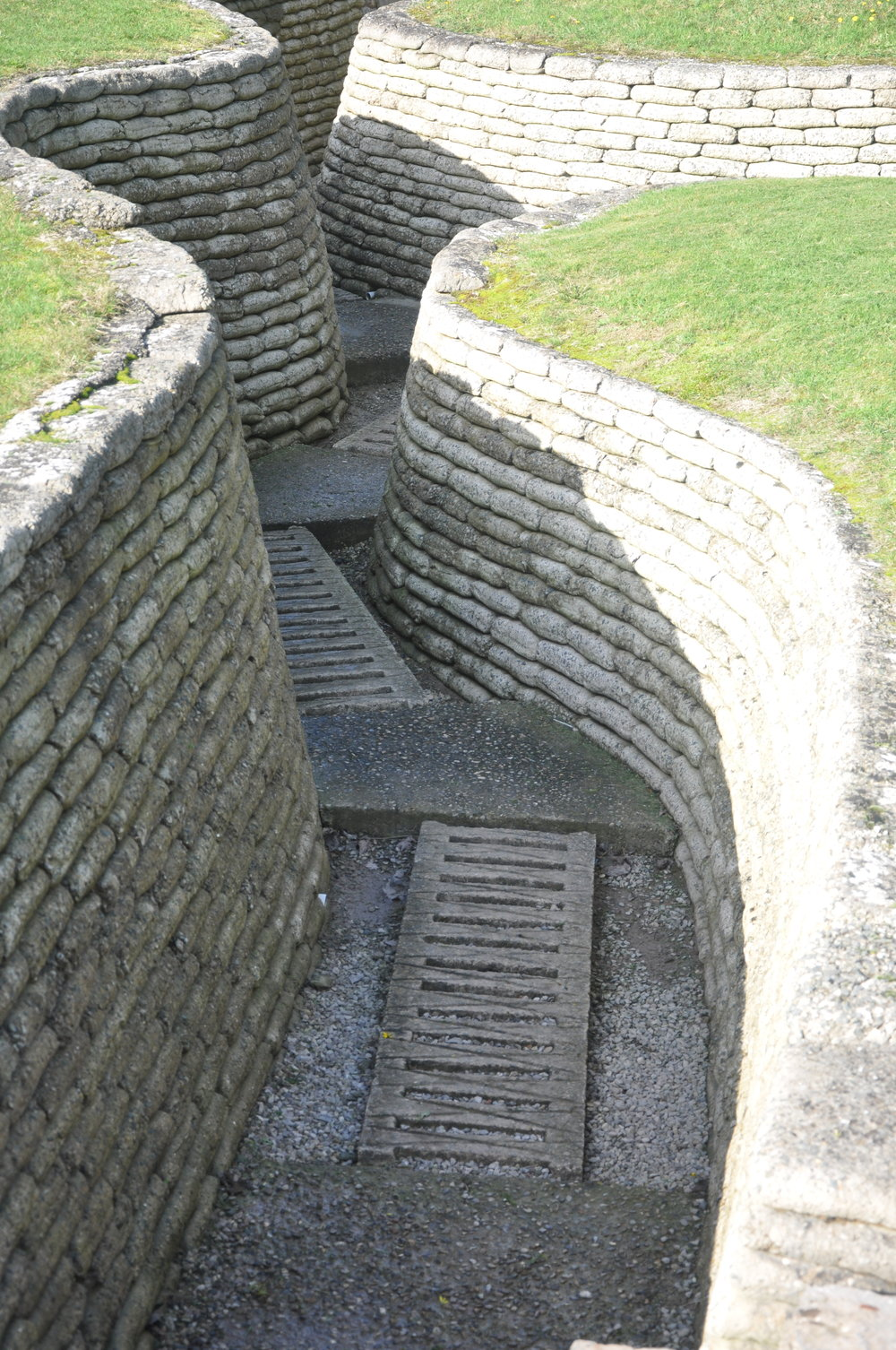 Preserved trenches at Vimy Ridge