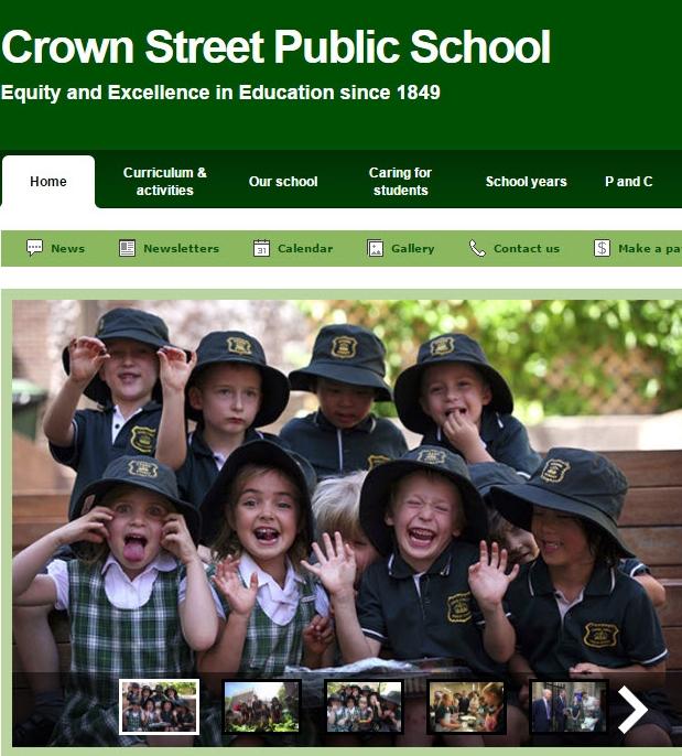 Crown Street Public School Website
