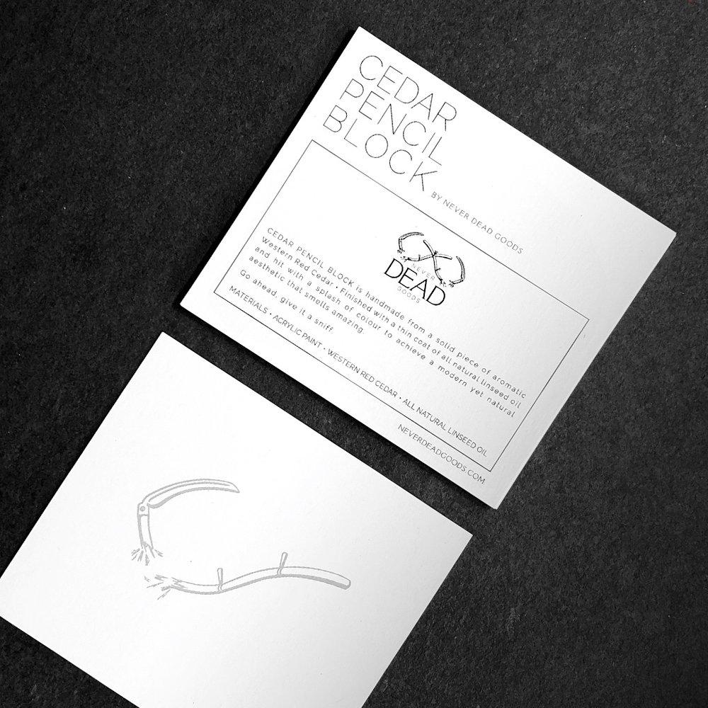 cedar pencil block product card