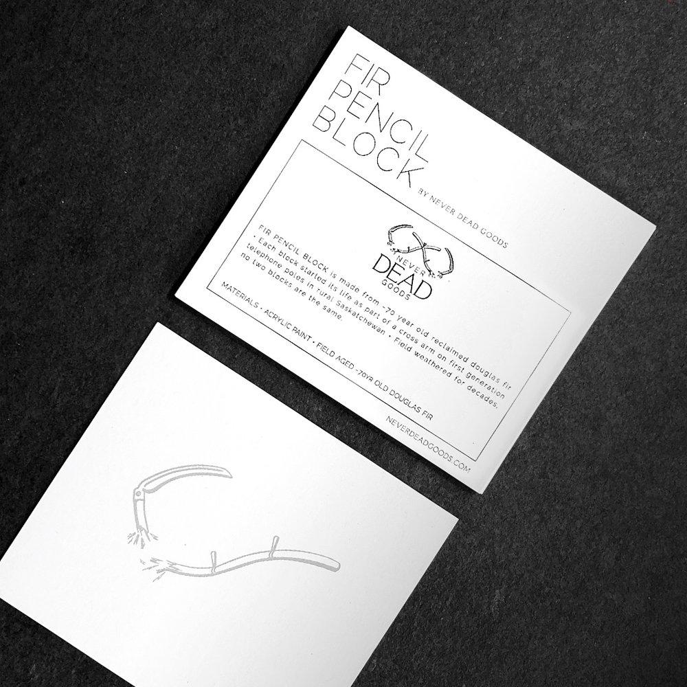 fir pencil block product card