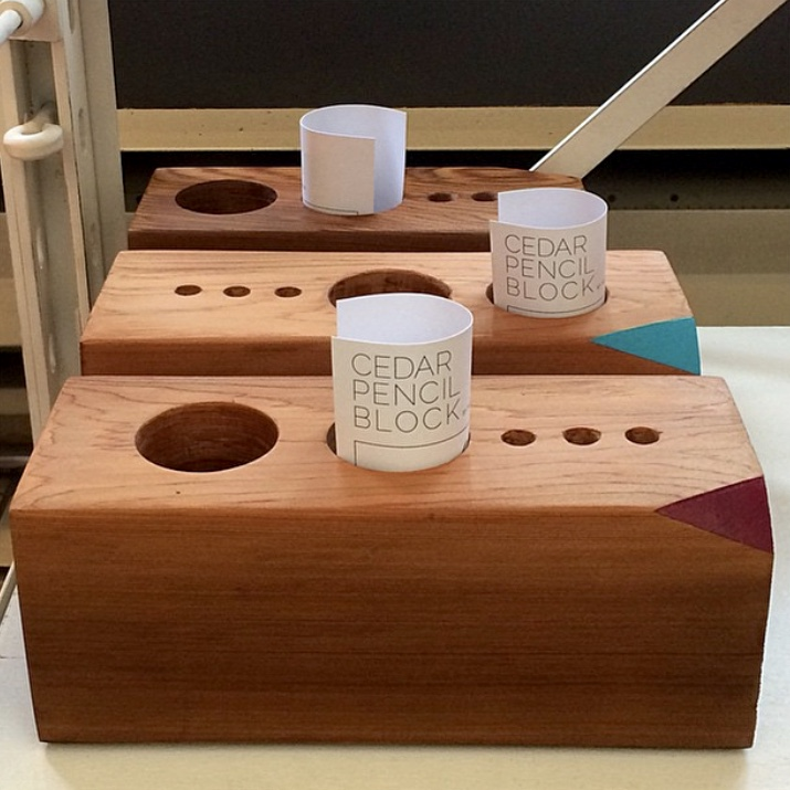 cedar wood blocks