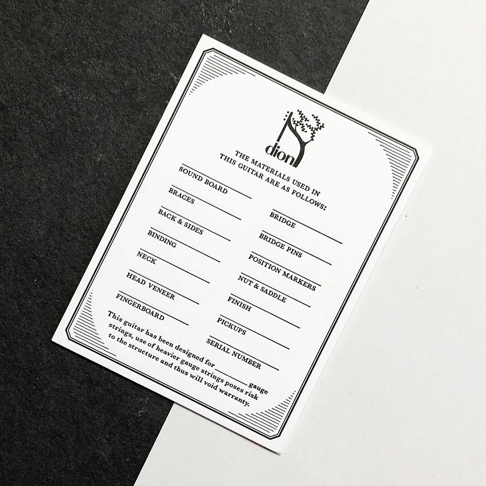 information card front