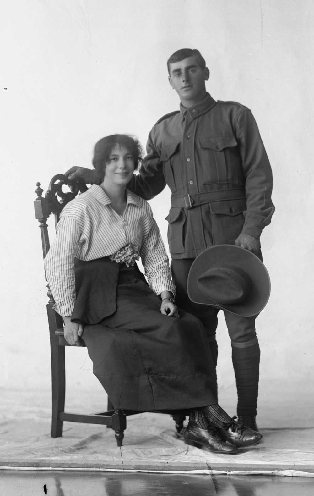 Photographed at the Dease Studio, 117 Barrack Street Perth WA Image courtesy of the State Library of Western Australia: 108667PD