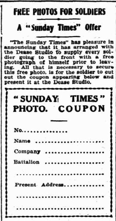 The Sunday Times ~ 27 June 1915 (pge 9.)