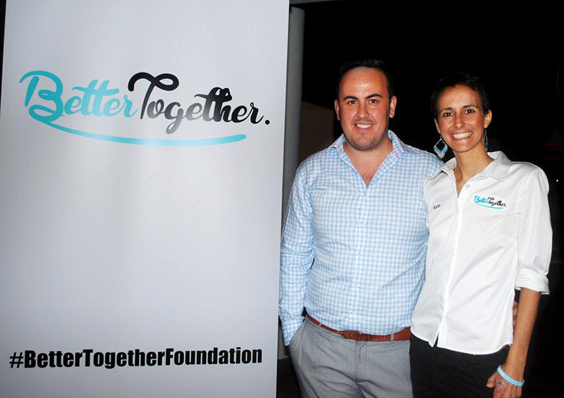 Founders, Matthew and Katie at The Better Together Foundation's Official Launch