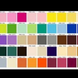 A pantone sample guide