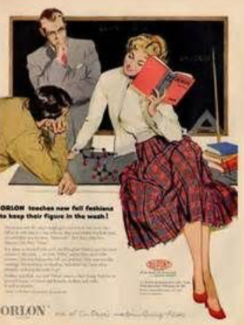 Orlon ad from 1950s