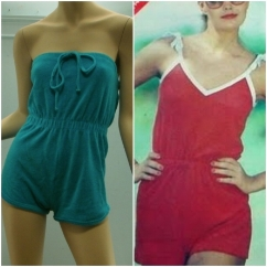 Terry cloth with tube top rompers!