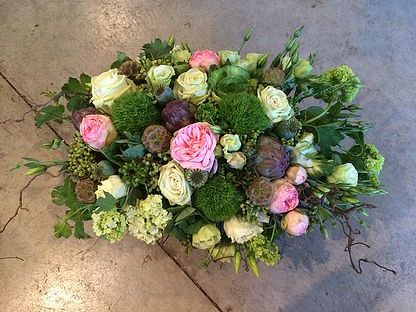 Low Garden Rose Centerpiece Arrangement