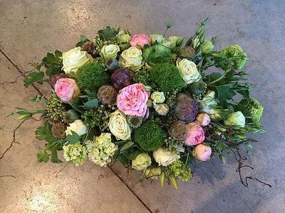 4. Low Garden Rose Centerpiece Arrangement