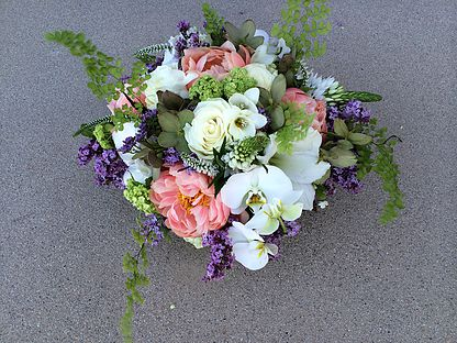 8. Orchid and Peony Spring Arrangement