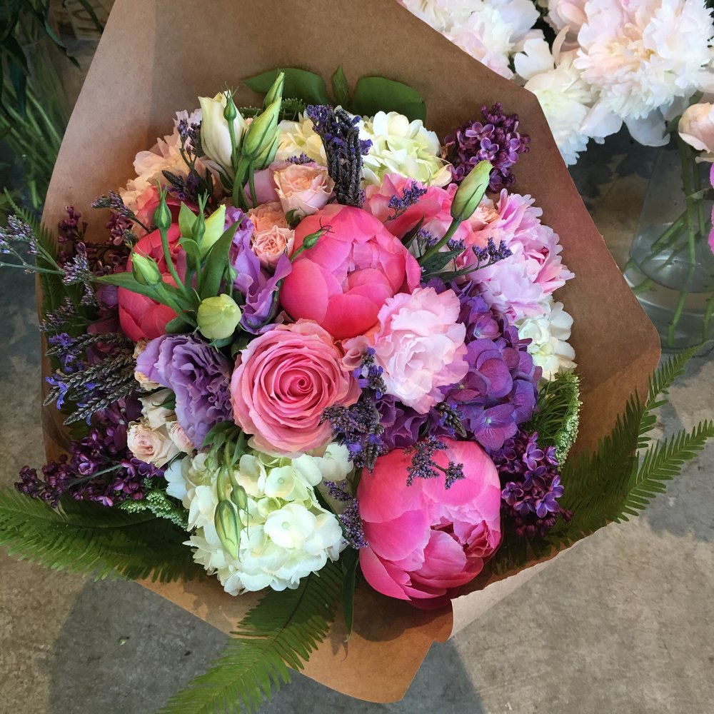 18. Colorful Hand Wrapped Bouquet