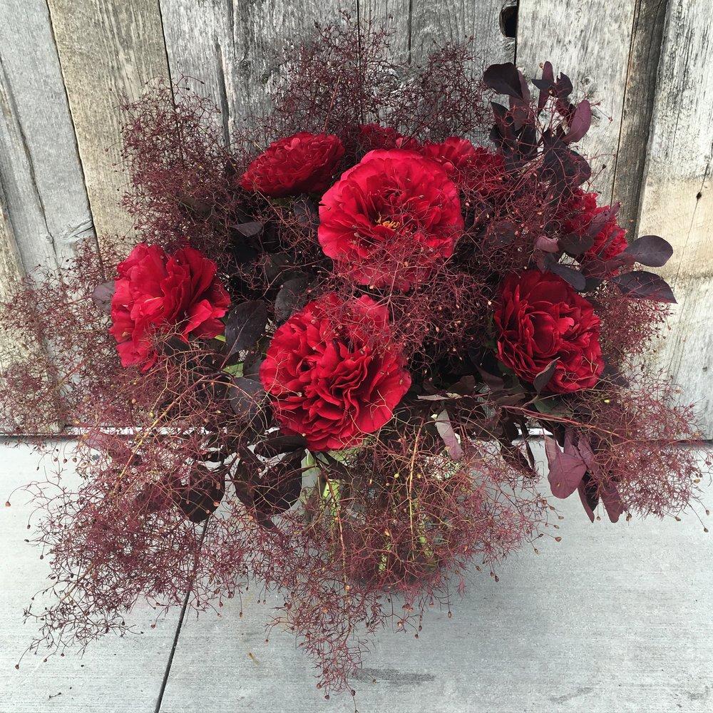 20. Seasonal Red Arrangement