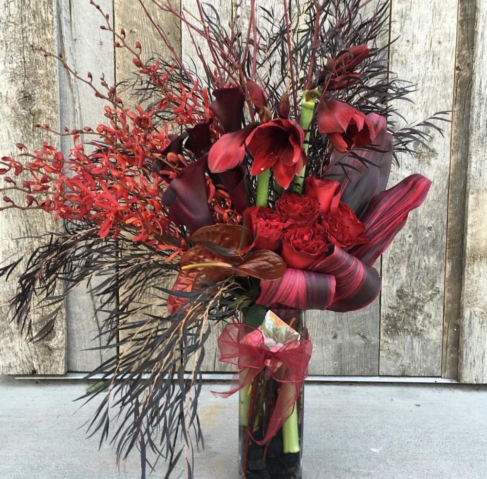 Tall Exotic Red and Burgundy