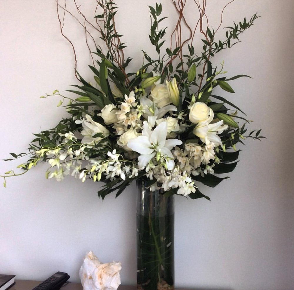 Tall Modern Casa Blanca Arrangement