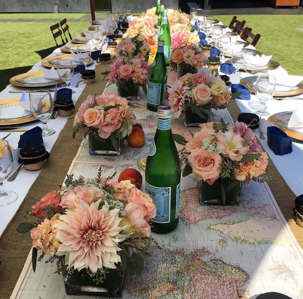 33. Luncheon Table Centerpieces