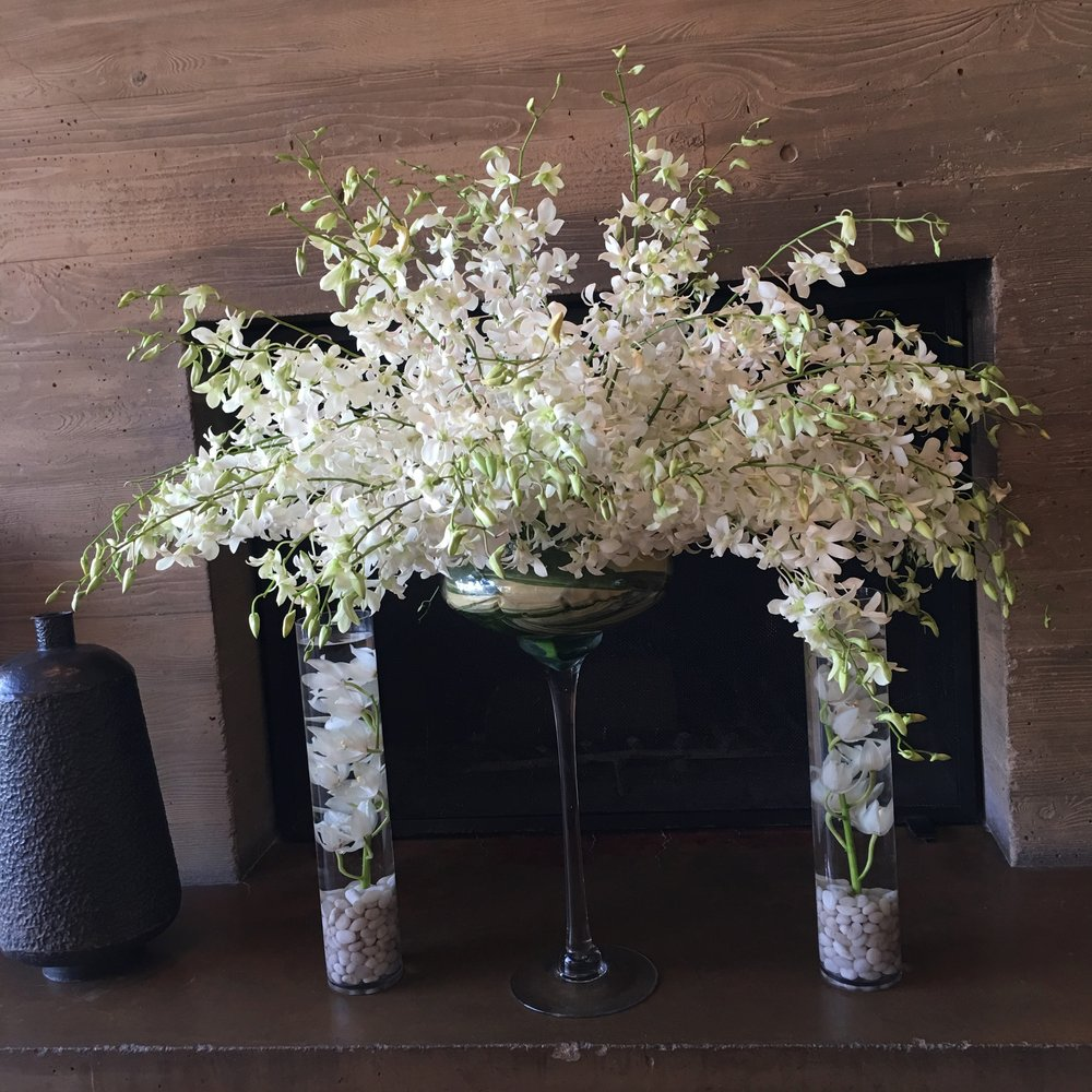 Cascading Orchid Arrangement