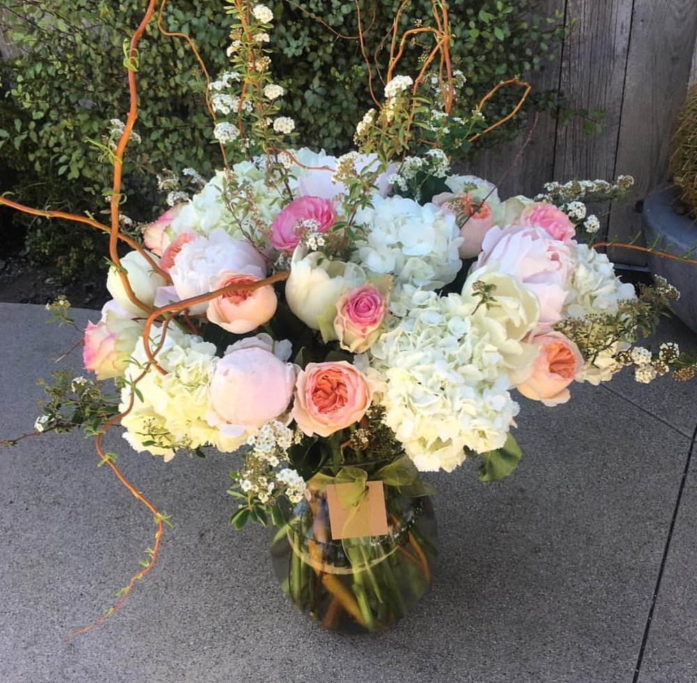 46. Tall Peaches, Pinks and Whites