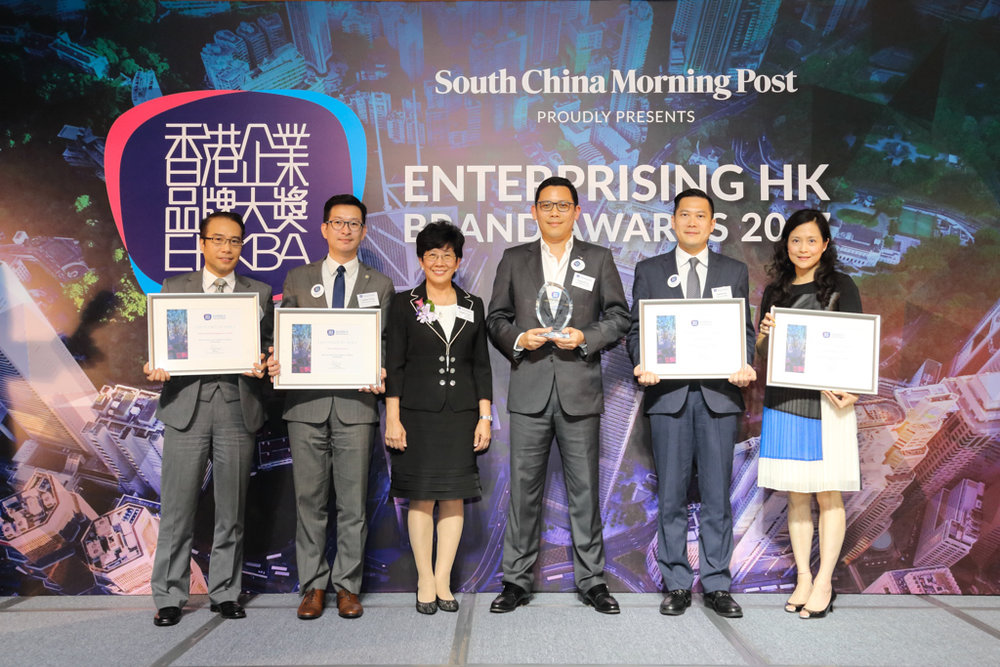 Finalists, winners and presenter of the Best HK Travel and Hospitality Brand (Privately-held).