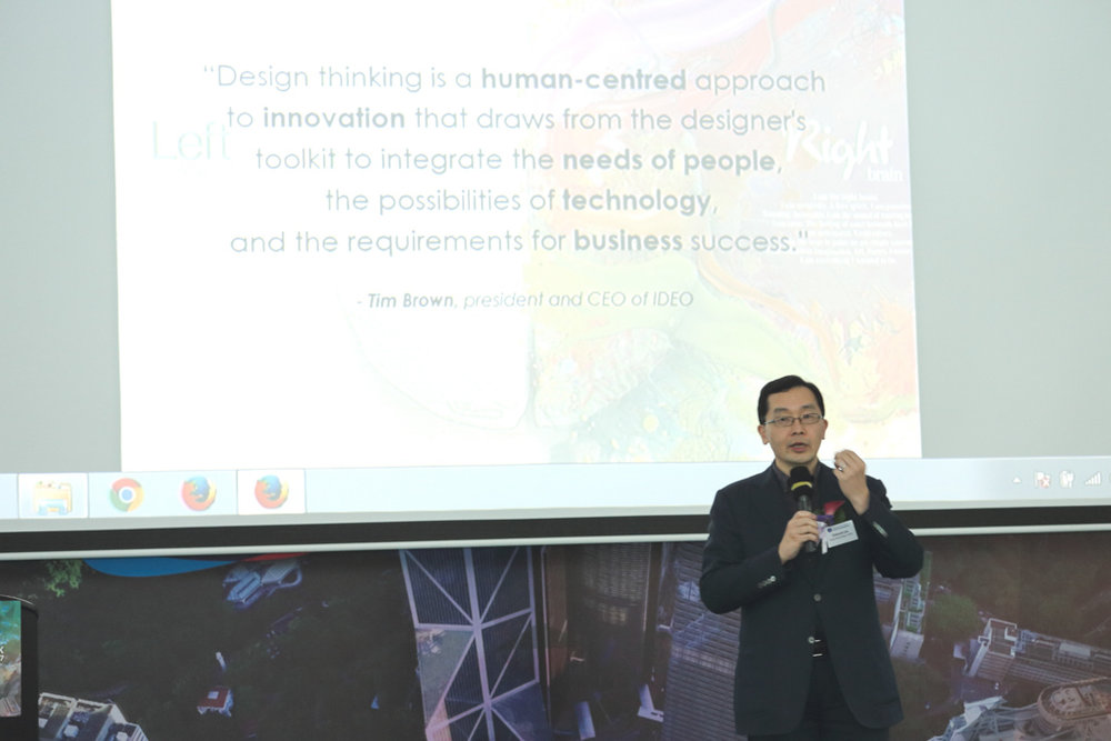 Sharing session by Dr Edmund Lee, Executive Director of Hong Kong Design Centre.