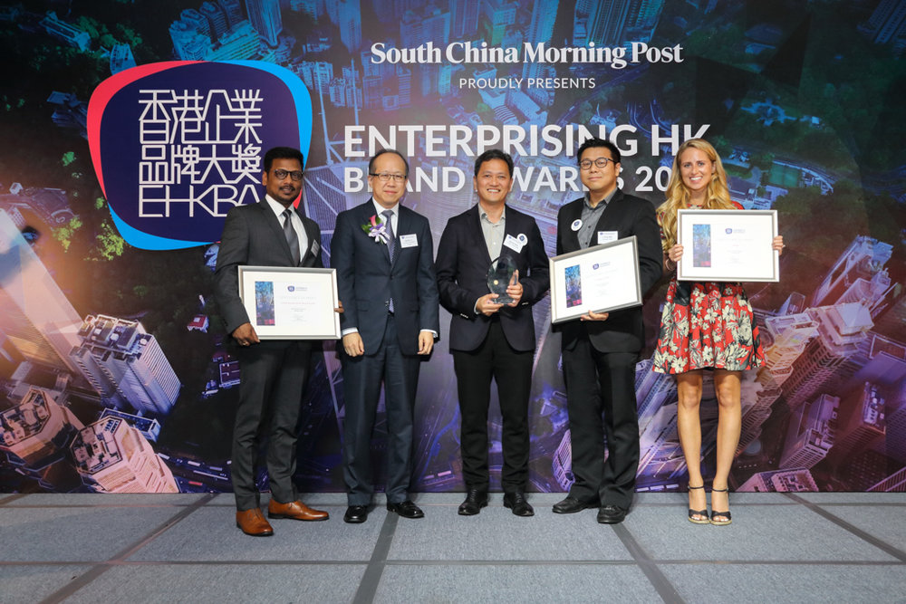 Finalists, winners and presenter of the Best HK Apps Brand (Privately-held).