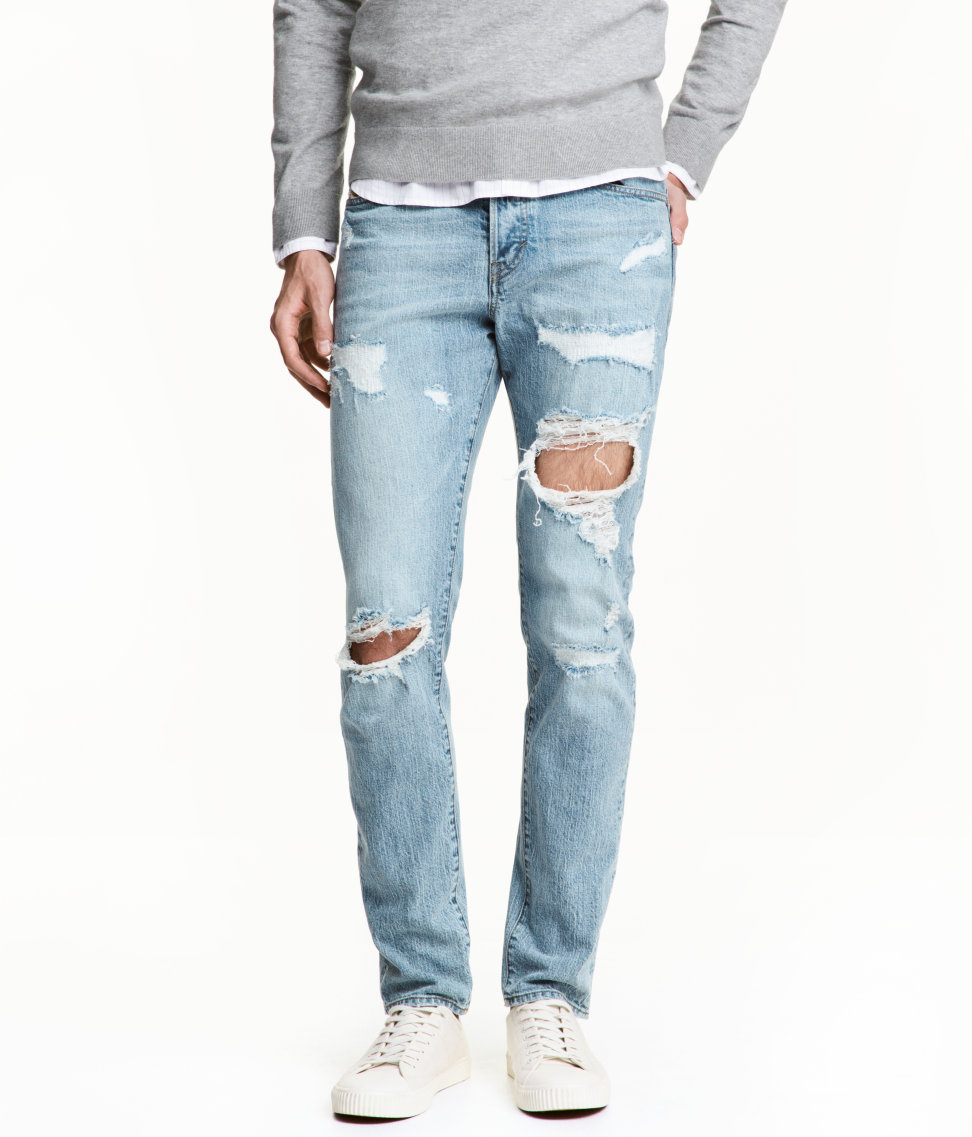 H&M Trashed Denim