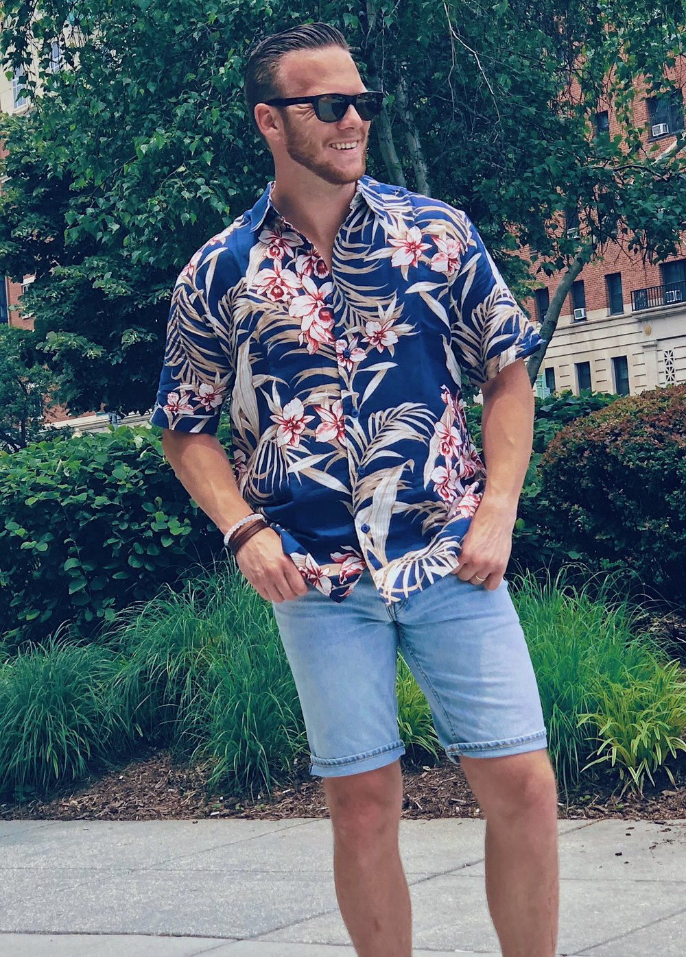 Tropical Spaced Floral Shirt with Shorts