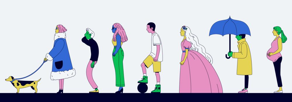 Adyen spot illustration, 2018, AD Jeroen de Lange