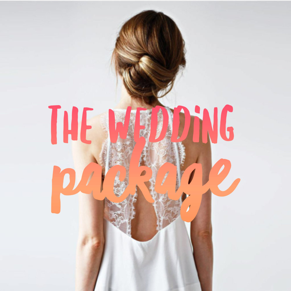 The Wedding Package $490.00