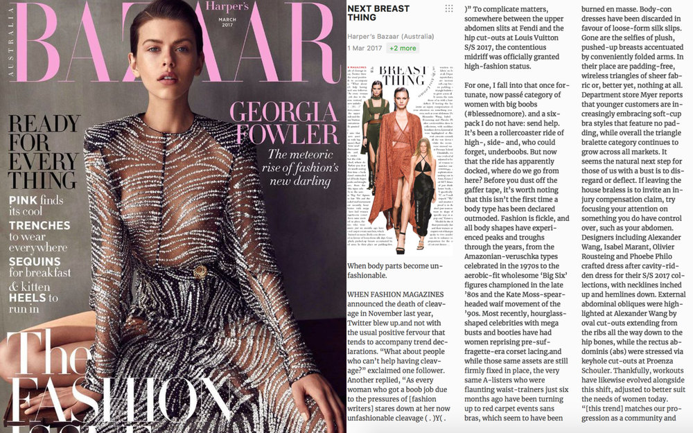 Harpers Bazaar March '17 - 'Next Breast Thing' with Abbie