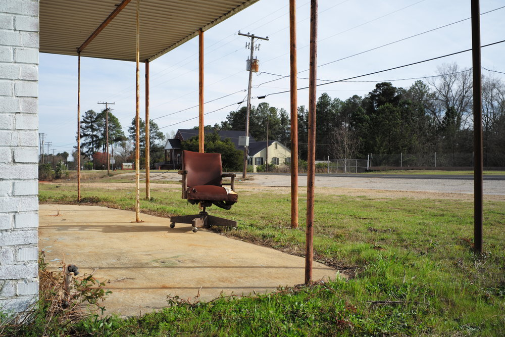 """Taking the Office Outside, Johnston, SC"", part of ""Taking Pictures: 2017"" at Black Box Gallery, Portland, OR"
