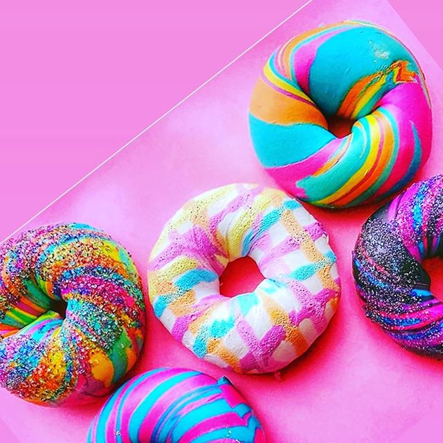Which Is Your Favorite? We love to hear your comments . . . Order Your Custom Design Or Catering For Every Event Made Better - thebagelstore.com . . . #thebagelstore #rainbowbagel #art #jacksonpollock #abstract #galaxy #originalrainbowbagel #eeeeeats #foodblogs #forkyeah #bagelstore #eatfamous #likethis #newyorkcity #nyceeeeeats  #eatingforthegram #colorfulife #foodies #customfood