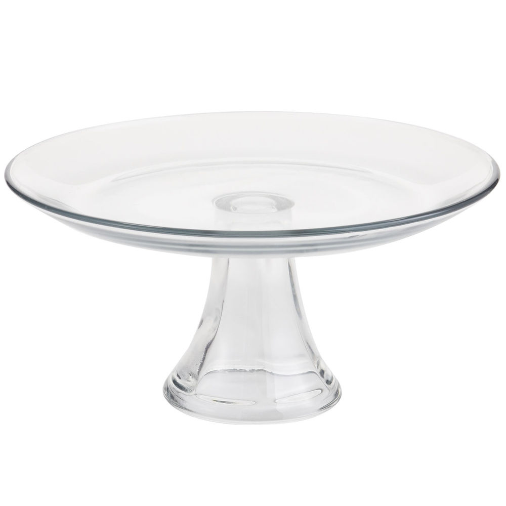 LARGE SIMPLE GLASS CAKE STAND $8.00