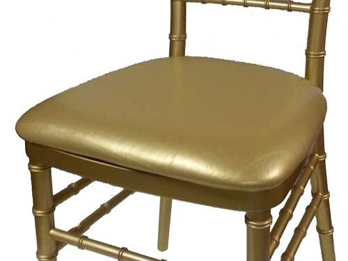 Gold Vinyl Chiavari Cushion $2.00