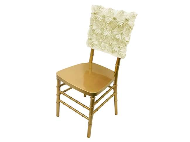 Ivory Rosette Chair Cap $3.00