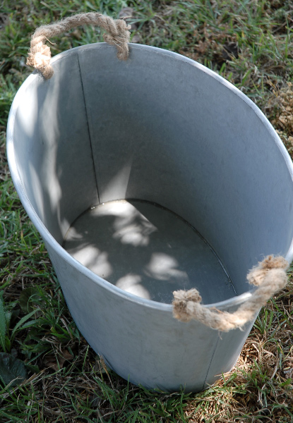 MEDIUM METAL TUB $15.00