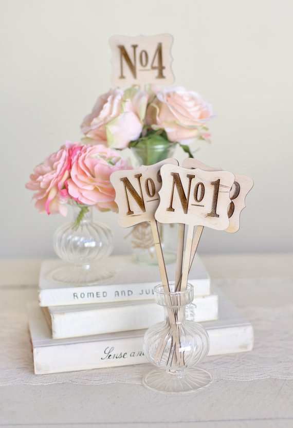 WOOD TABLE NUMBERS $1.00 EACH