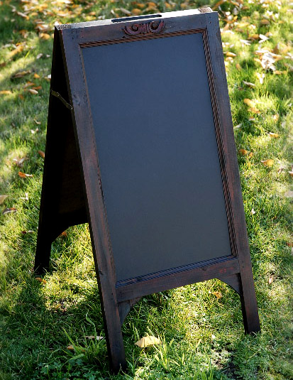 CHALKBOARD EASEL $25 (MUST INSERT OWN ARTWORK)